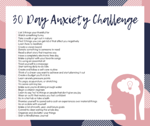 30 Day Anxiety Challenge